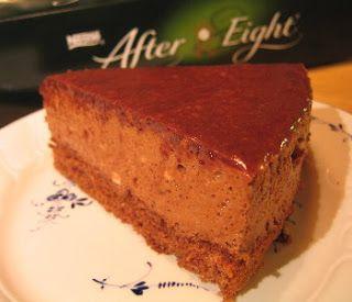 Mine Oppskrifter: After Eight-kake