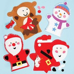 Christmas Felt Hand Puppet Sewing Kit | Ellie Crate