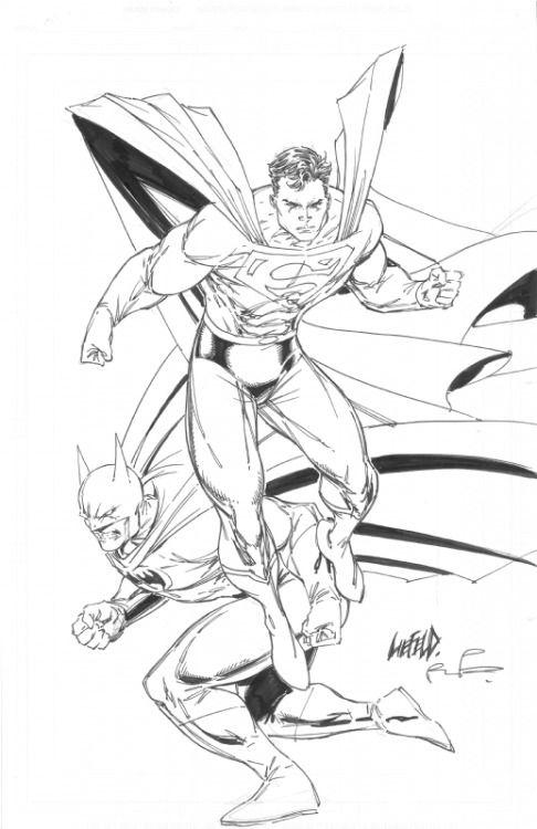 Superman & Batman by Rob Liefeld