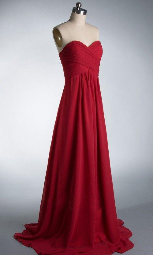 >> Click to Buy << anggur merah mint green karang pemburu giok berwarna pesta prom sifon strapless Mode baru 2015 gaun pengiring pengantin panjang #Affiliate