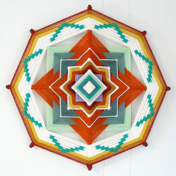 Sagebrush path, a 12 inch, 8-sided Ojo de Dios, custom order