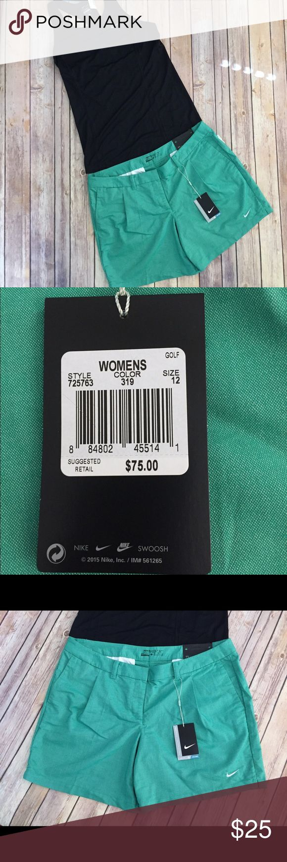 """Nike women's green gold short in SZ 12 New with tags Nike women's green golf shorts in SZ 12. 6""""inseam. Nike Shorts Skorts"""