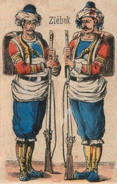 Ottoman Imperial Army Corps of Bashi-Bazouk 1860 till 1870 - Ottoman Turkish Uniforms WW1 History First World War Militaria Turkey Wargaming Military Insignia Uniform Crimea Crimean (ziebak / zeybek / zeibek)