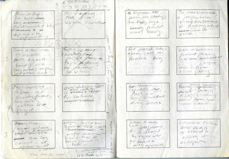 """Jennifer Egan, Black-Box - Scatola Nera. Da intervista Stancanelli a Egan: """"Ho scritto tutto a mano in un quaderno di appunti giapponese, costituito da otto rettangoli in ogni pagina..."""""""