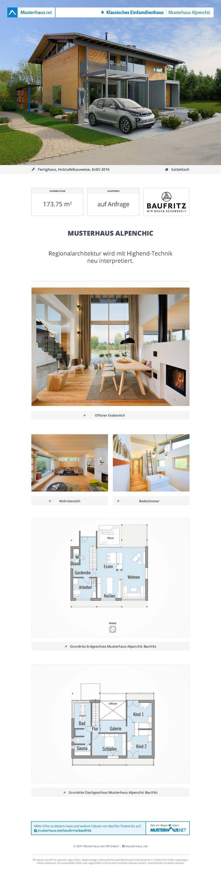 Musterhaus Alpenchic • Holzhaus von Baufritz • Modernes Einfamilienhaus mit außergewöhnlichen Energiekonzept • Jetzt bei Musterhaus