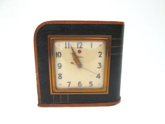 Antique Mantle Clock Art Deco Table Clock Time Piece by ElmPlace, $45.00
