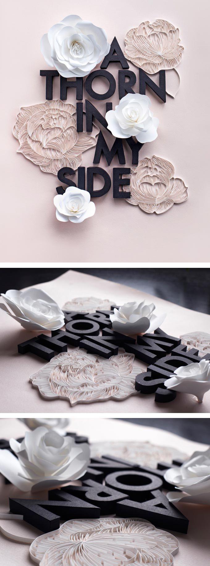 Lavanya Naidoo paper typography