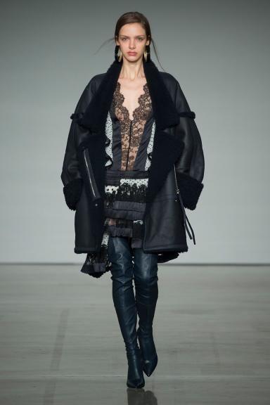 Fall 2017 RTW, The Maples Zimmermann New York Fashion Week NYFW 2017 Australian Fashion designer ready to wear  Rife Dizzy Dress, Stretch Thigh Boot, Maples Riot Jacket