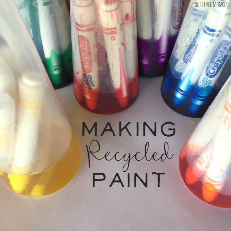 Making Recycled Paint MaterialsRecycled Projects KidsActivity