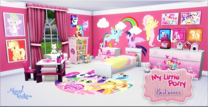 My Little Pony bedroom at Victor Miguel • Sims 4 Updates