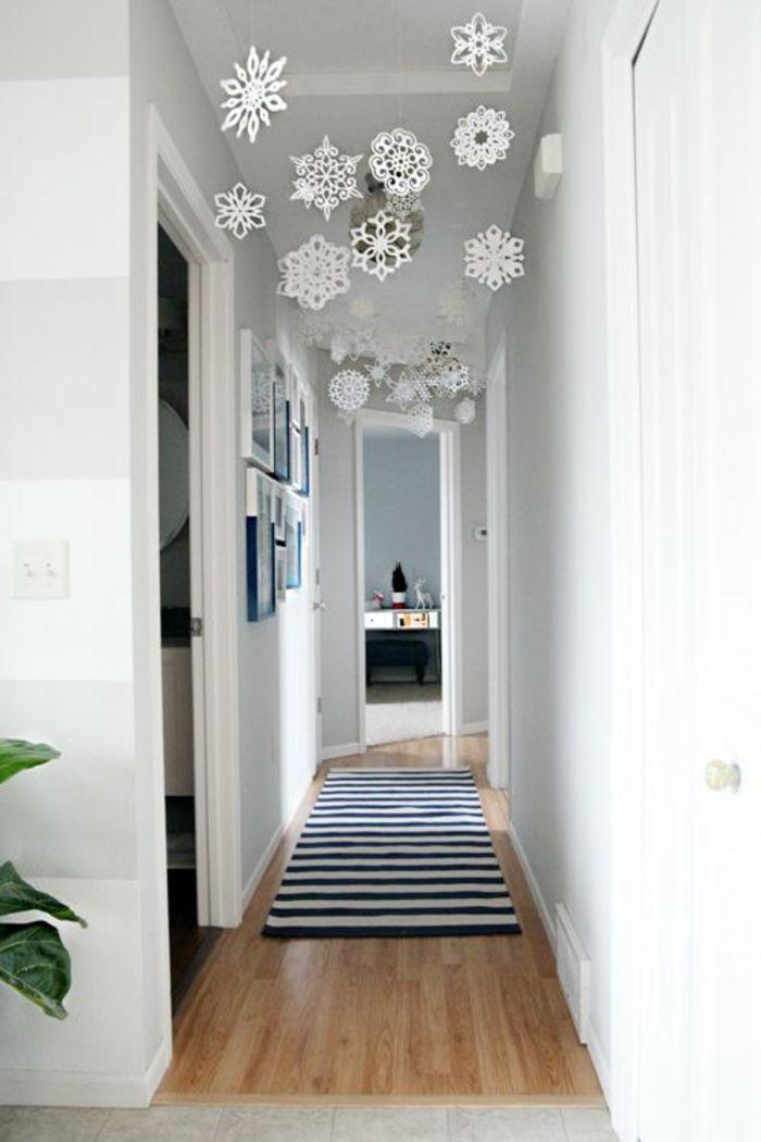 modern apartment-white interior Corridor Decoration Hanging