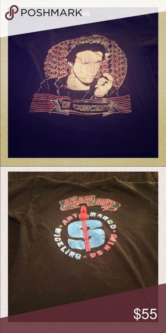 Vintage Original Adam Ant tour T-shirt Original. Not a reprint. Size Extra Small Tops Tees - Short Sleeve