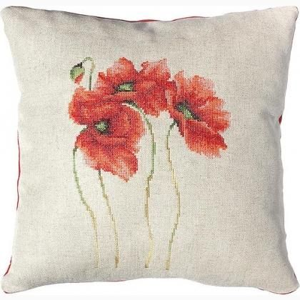Cushion - Blooming poppies