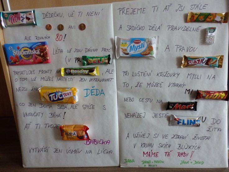 Originální přáníčko ze sušenek pro dědečka ;-)