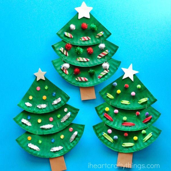 Paper Plate Christmas Tree Craft Christmas Art Projects Preschool Christmas Christmas Tree Crafts