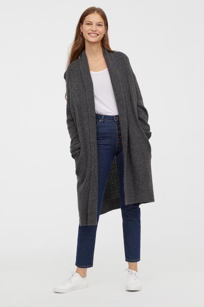 73a1839639 Knit Cardigan - Dark gray melange - Ladies