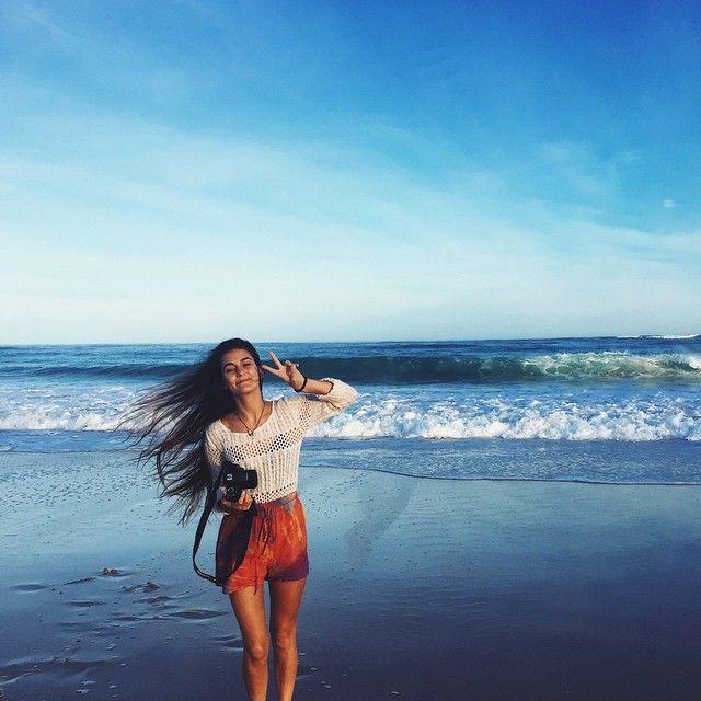 rainbow shorts & the ocean
