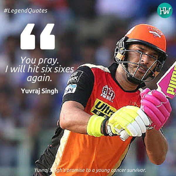 Yuvraj Singh promises a repetition of his unforgettable feat! How's that for confidence? #IPL #Cricket #LegendQuotes #IPL2016 #SRH