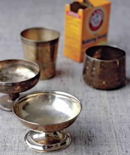 Baking Soda as Silver Polish