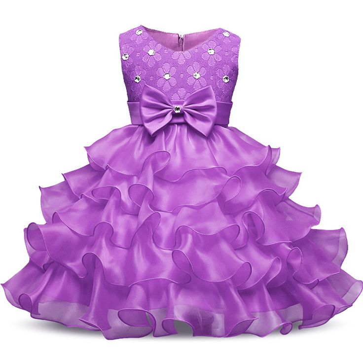 Frilly Lace Ruffle Party Dress for Girls