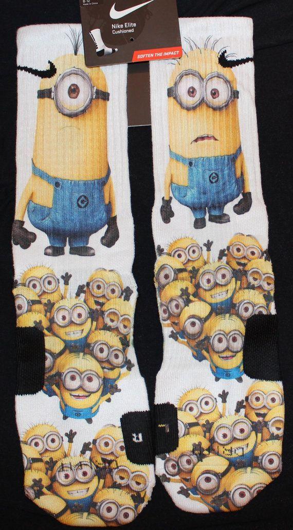 Despicable Me Custom Nike Elite Socks by LuxuryElites on Etsy $33.99