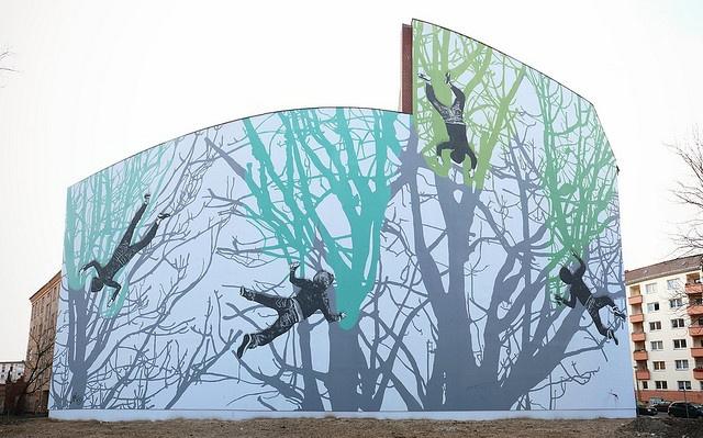 Victor Ash -  Falling Graffiti Sprayer by urbanartcore.eu, via Flickr