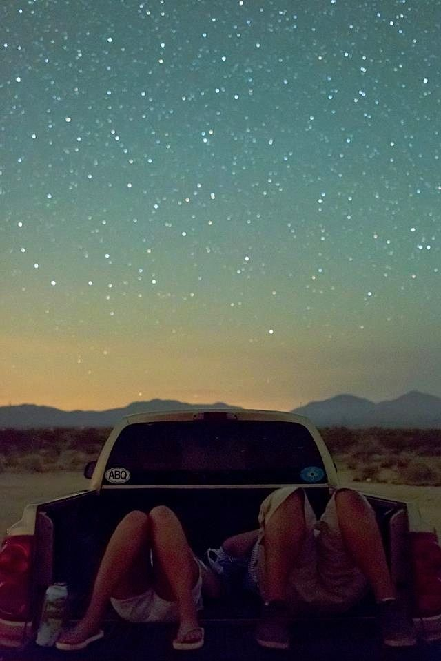 I need to go star gazing. Ya know, with lots of blankets and pillows in back of pickup truck and nowhere to be for a whole week.