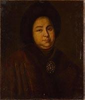'Portret van Jevdokia Lopoechina', de eerste vrouw van Peter I, 1790-1810 / Rusland, anoniem / Hermitage, St. Petersburg, Rusland.