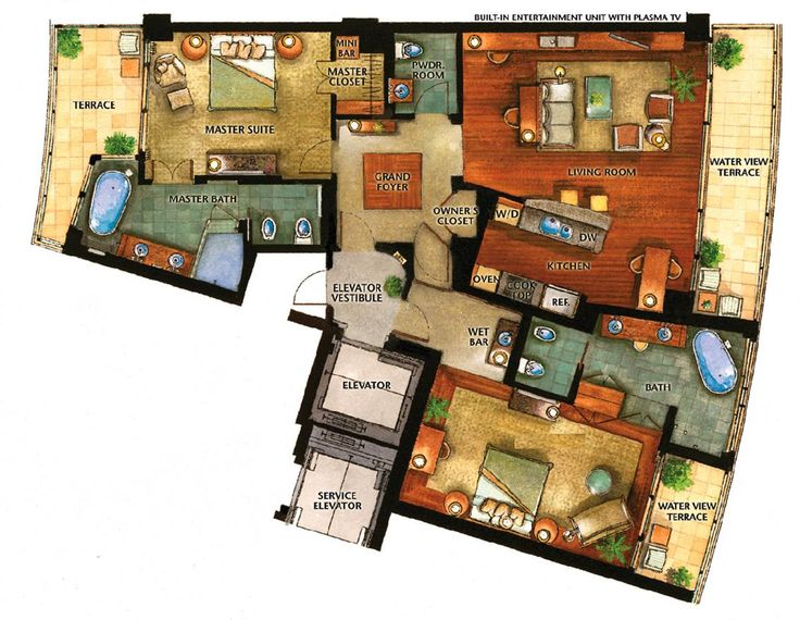 See The Image For The Presidential Suite Floor Plan Also