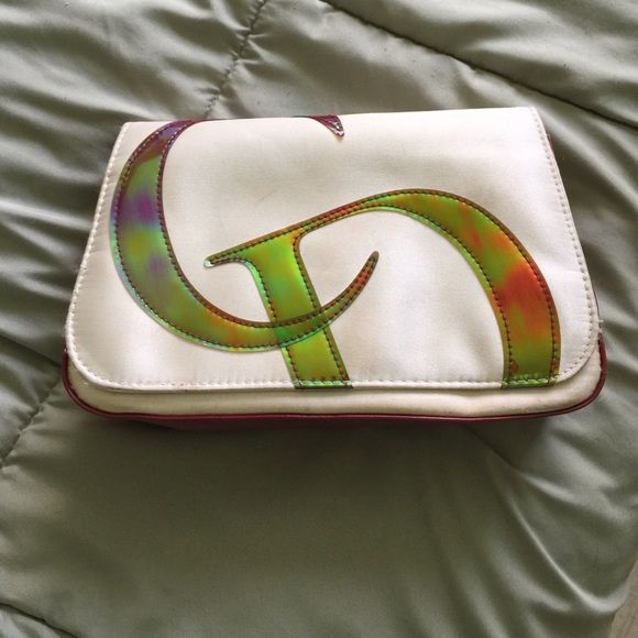 Christian Dior makeup bag 100 percent authentic Dior makeup bag outside in great condition inside very dirty with makeup stains but can be cleaned Dior Accessories