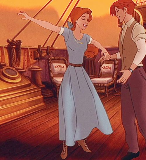 Anastasia Blue Dress On Ship