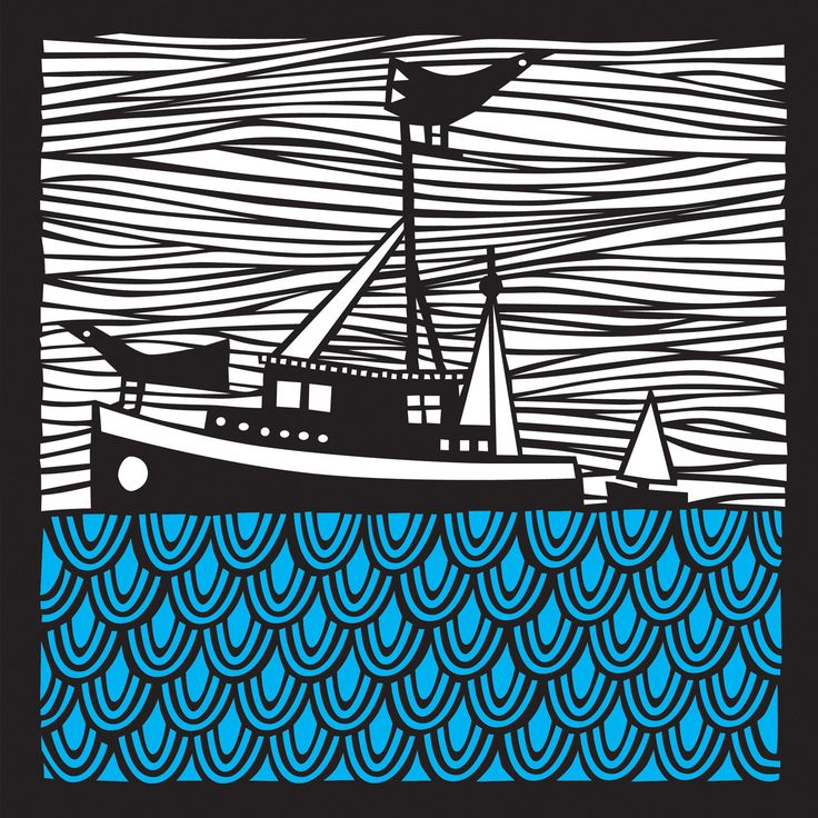 Decorative paper cut of a fishing boat, this artwork has been laser cut in a limited edition from one of my original hand cut designs.I use the best quality, mo