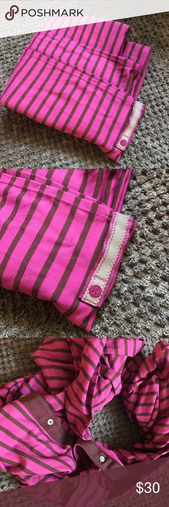 Lululemon Scarf Thick lululemon scarf. Pink and purple stripes with buttons. Super cute on! lululemon athletica Accessories Scarves & Wraps