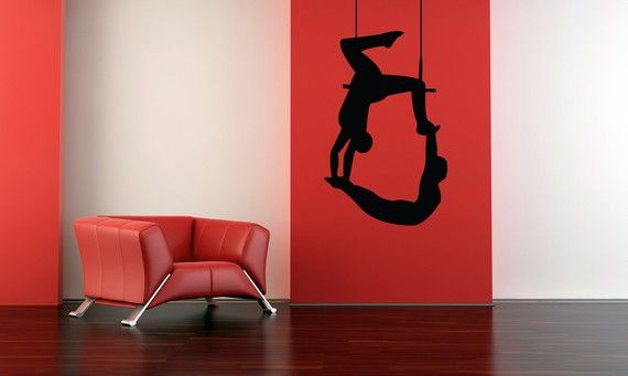 Trapeze Duo, Perfomers, Cirque Soleil, Circus - Decal, Sticker, Vinyl, Wall, Home, Kid's Bedroom, Office Decor on Etsy, $44.00