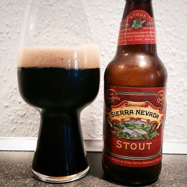 Sierra Nevada Stout & the stout glass - pic from @arkalo84 on instagram. #craftbeer