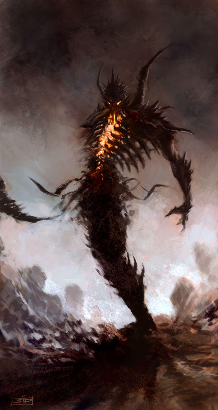 Dream Hunter by Vitaliy Smyk | http://drawcrowd.com/smyk759101 | Fantasy creature spectral demon