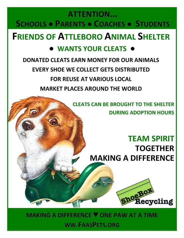 Shoebox Recycling Cleats Attleboro Parent Coaching Flyer