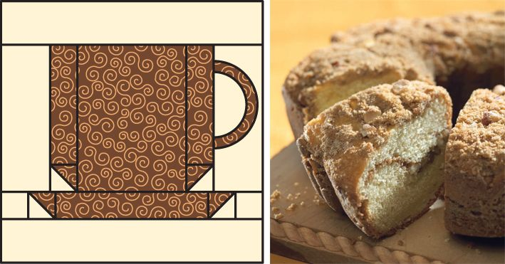 Coffee has never been cuter! Download this Coffee-Cup quilt-block pattern (+ a delish coffee-cake recipe) for free when you sign in or register at ShopMartingale.com.