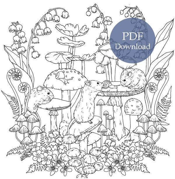 Download Meunet De Bonheur Coloring Book Pdf Printable Hd In 2021 Forest Coloring Book Coloring Pages Nature Printable Coloring Book