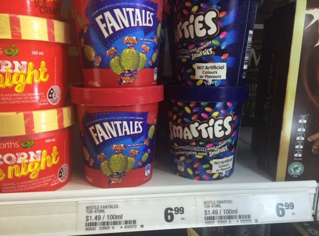 However some people are unhappy with the pricing of the tubs. | Important: Fruit Tingles, Fantales, Milo And Smarties Ice Cream Is Now A Thing