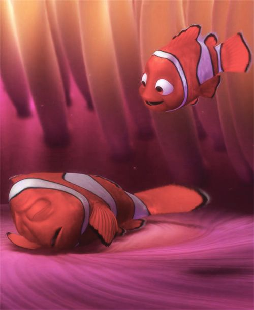 Marlin (Nemo's Dad)- Finding Nemo He is a very conventional and conservative kind of character. He is less receptive to the idea of going out and exploring the world. He would be an example of someone who is not too open to new experiences.