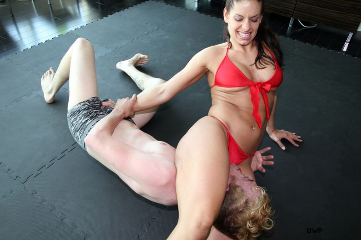 Erotic female wrestling and leg submissions