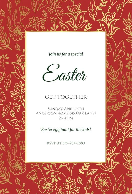 30 best Easter Invitations Templates images on Pinterest - easter invitations template
