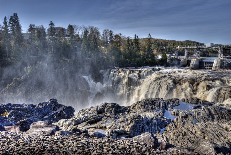 This is Grand Falls Gorge in Grand Falls, New Brunswick, Canada. I took this late summer, early fall 2011