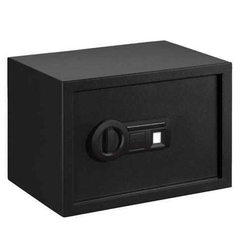 Personal Safe Biometric Lock with Shelf, Black