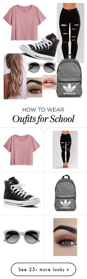 """Just a few more school outfits"" by naomi-esperanza on Polyvore featuring adidas and Converse"