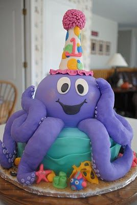 Adorably AwesomeOctopuses Cake, Awesome Octopuses, Treaty Treats, Awesome Work, Awesome Cakes, 1St Birthday Cakes, 1St Birthdays, Adorable Awesomee Wow, Adorable Octopuses