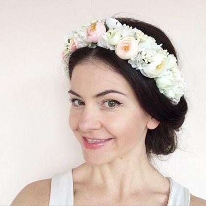 Купить или заказать Веночек для волос 'Утренняя нежность' в интернет-магазине на Ярмарке Мастеров. Нежнейший из моих веночков. Отлично подойдет для фотосессий, выпускных, невест, праздников и вечеринок.