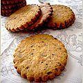 Biscuits croustillants noisette chocolat - La petite pâtisserie d'iza