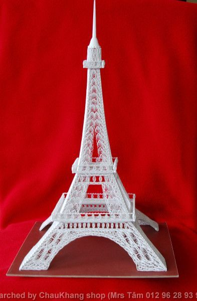 Made by Harold Nieuwenhuis- 3D quilled architecture(Searched by Châu Khang)